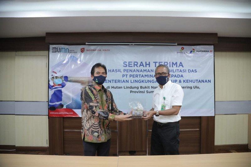 Pertamina EP serahkan hasil rehabilitasi DAS Bukit Nanti Sumsel