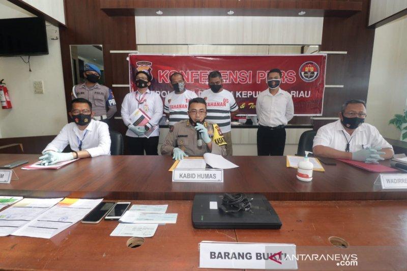 Polda Kepri tahan dua tersangka pemalsu faktur UWT BP Batam