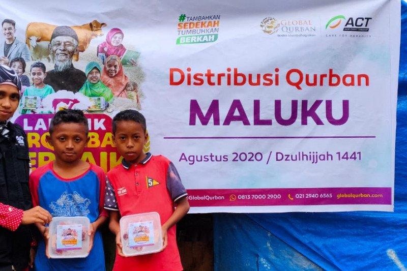 Daging kurban disalurkan Global Qurban ACT Maluku hingga pelosok desa