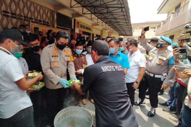 Polrestabes Medan musnahkan barang bukti sabu-sabu 67 kg