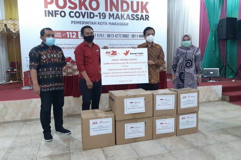 Makassar terima perlengkapan APD dari Kawan Lama Foundation