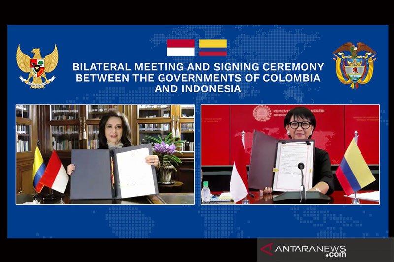 Tingkatkan kerja sama, menlu RI-Kolombia lakukan pertemuan virtual