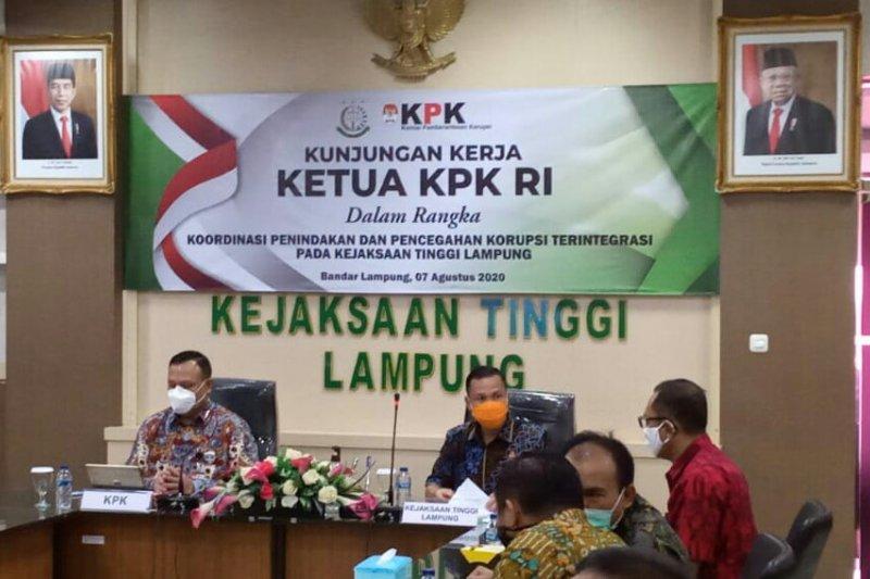 KPK ingatkan penyimpangan dana COVID-19 dan pilkada bersih di Lampung