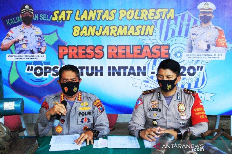 Polresta Banjarmasin tilang 2.082 pengendara dalam Operasi Patuh Intan