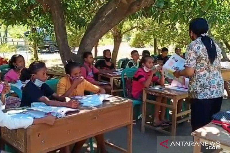 Tak ada internet pelajar di Sikka sekolah tatap muka di bawah pohon