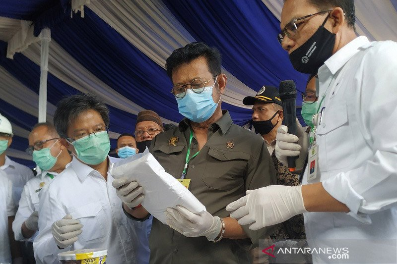 Menteri Pertanian kunjungi pabrik tapioka Bangka