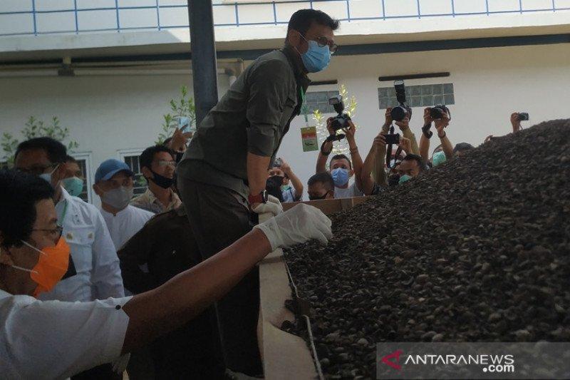 Babel bangun pabrik  tandan kering sawit