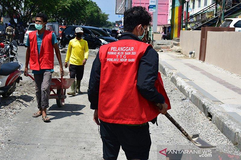 20 warga Pekanbaru terjaring razia karena abaikan protokol kesehatan