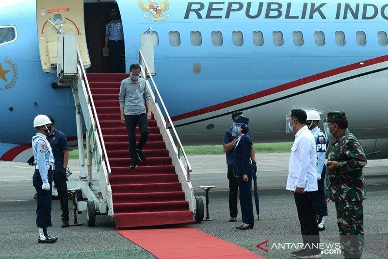Kunker ke Jabar, Presiden tekankan masker adalah kunci