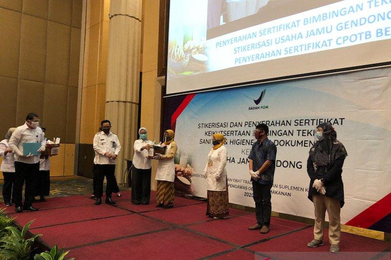 30 pelaku jamu gendong di Yogyakarta peroleh sertifikasi dari BPOM