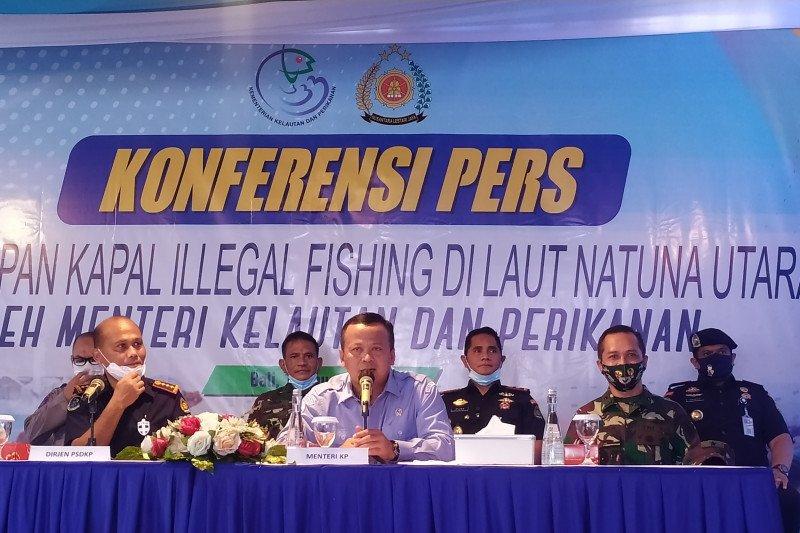 Edhy Prabowo pastikan kapal ilegal di Laut Natuna Utara,diproses hukum