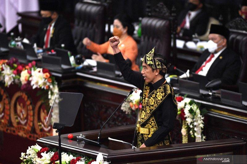 Pidato di parlemen, Presiden 4 kali serukan bajak momentum krisis