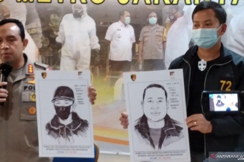 Polisi tampilkan sketsa pelaku penembakan di Kelapa Gading