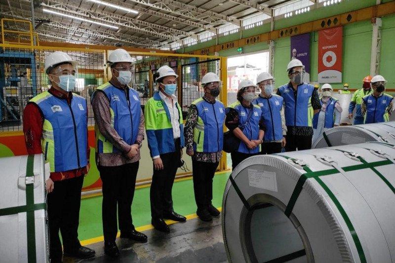 Industri logam ekspor 2.000 ton baja aluminium