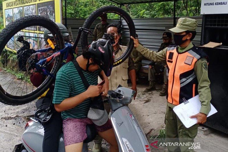 """Siaga masker di """"Lava Tour Merapi"""" digelar di Sleman-Yogyakarta"""