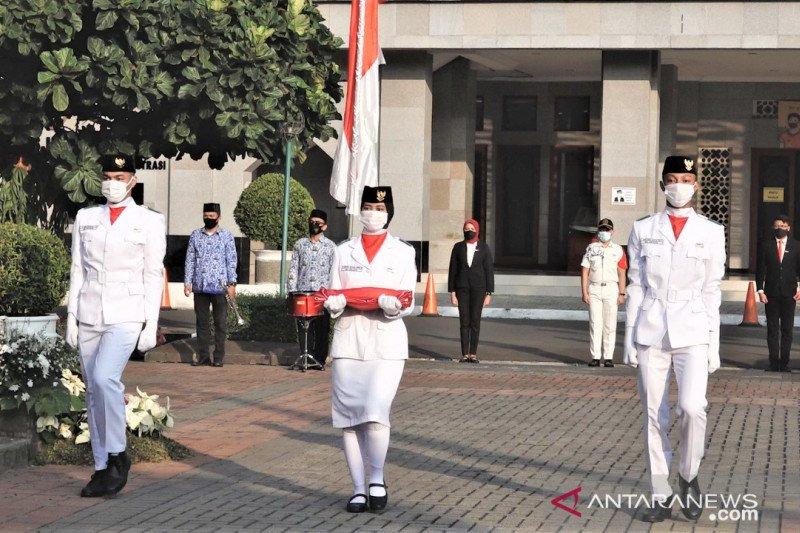 Pengibaran bendera sambut HUT RI di Jakpus hanya libatkan pasukan inti