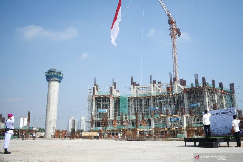Jakarta Internasional Stadium kibarkan bendera merah putih raksasa