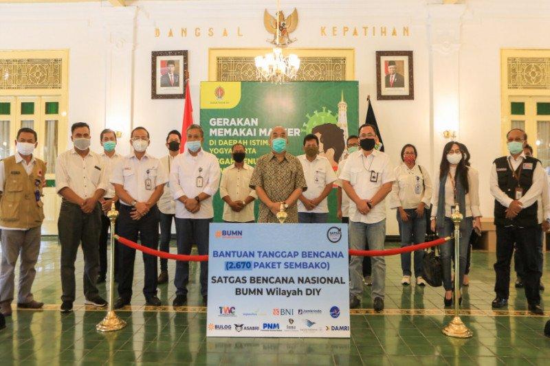 Tangani COVID-19, Satgas Bencana Nasional BUMN salurkan bantuan di DIY