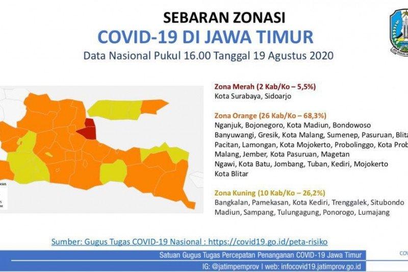 Gugus Tugas Surabaya Kembali Berstatus Zona Merah Covid 19 Antara News Papua