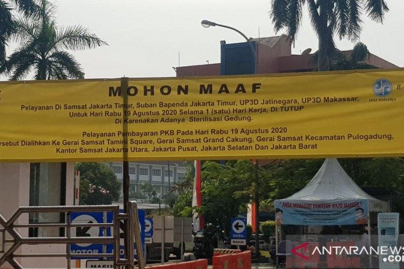 Gedung Samsat Jaktim ditutup untuk sterilisasi