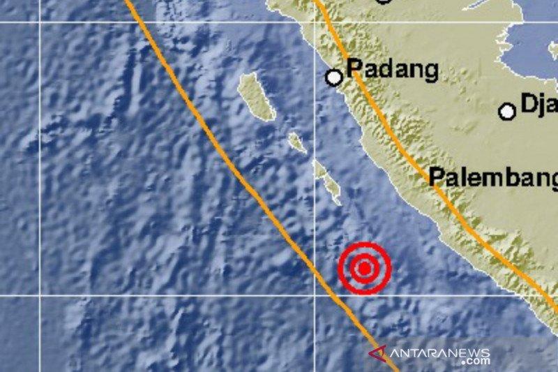 Gempa magnitudo 6,9 guncang Bengkulu tidak berpotensi tsunami