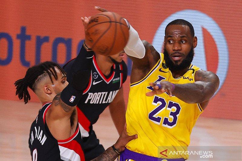NBA: Portland Trail Blazers tekuk LA Lakers 100 - 93