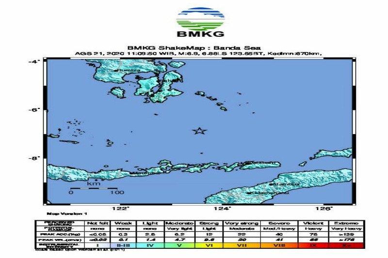 Gempa Laut Banda menunjukkan proses subduksi lempeng masih berlangsung