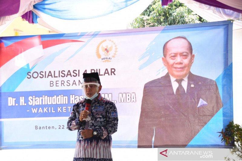 Syarief Hasan ajak masyarakat tingkatkan implementasi Empat Pilar MPR