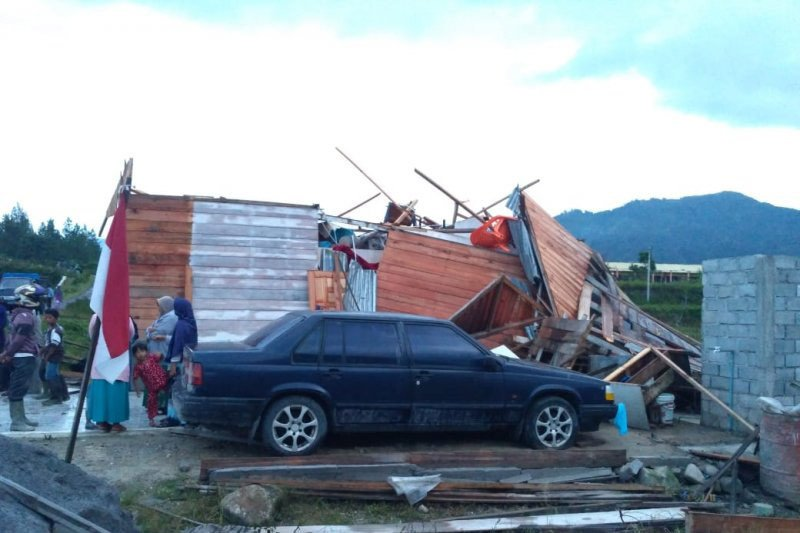 BPBD: 34 bangunan di Aceh Tengah rusak diterjang puting beliung