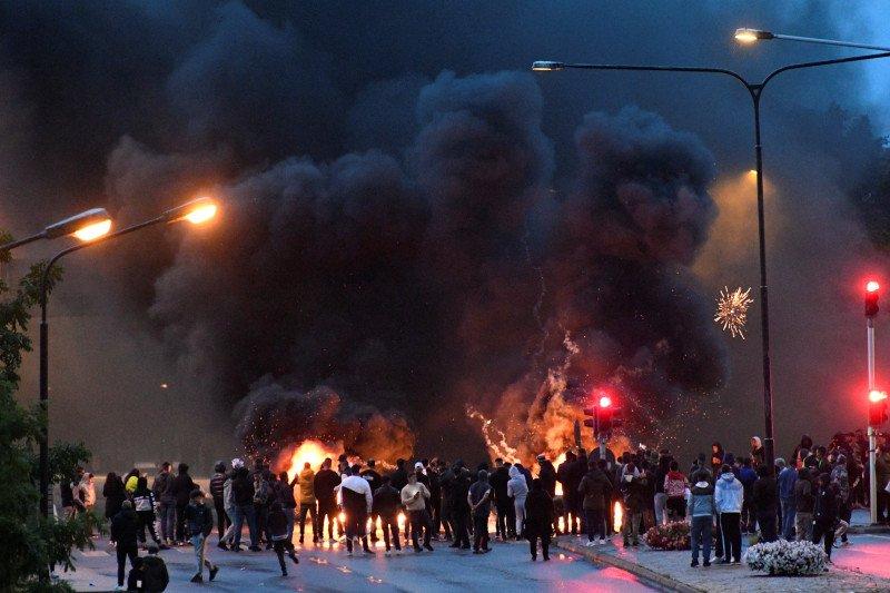 Kerusuhan pecah di Kota Malmo-Swedia usai pembakaran Al Quran