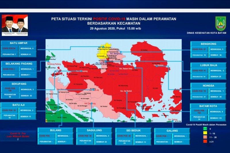 Kasus COVID-19 terus bertambah, 4 kecamatan di Batam zona merah
