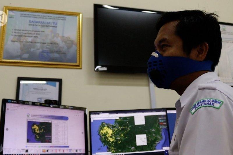 BMKG mendeteksi5.406 titik panas di Kalimantan Barat