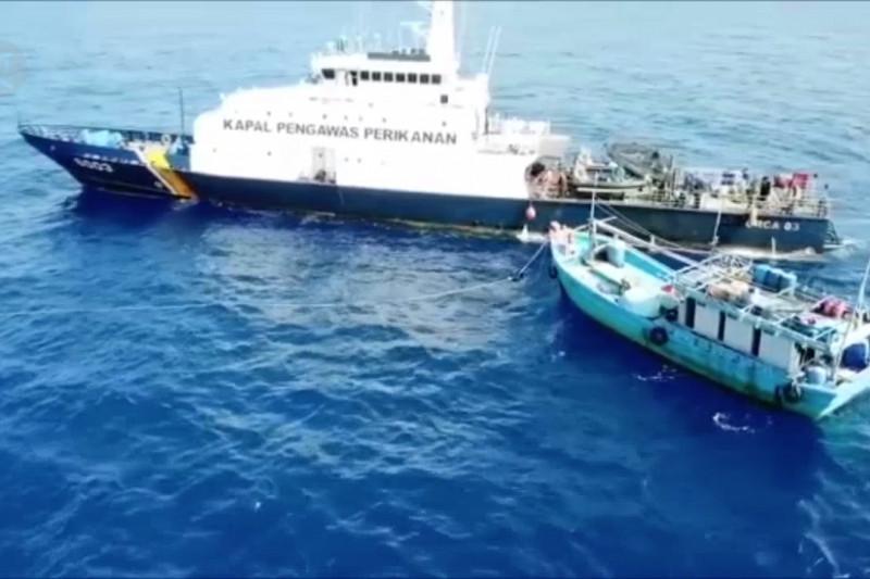 KKP tangkap tiga kapal pencuri ikan asal Vietnam di Laut Natuna