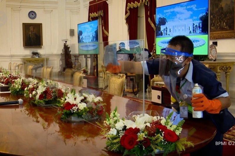 Intip ketatnya protokol kesehatan di Istana Kepresidenan