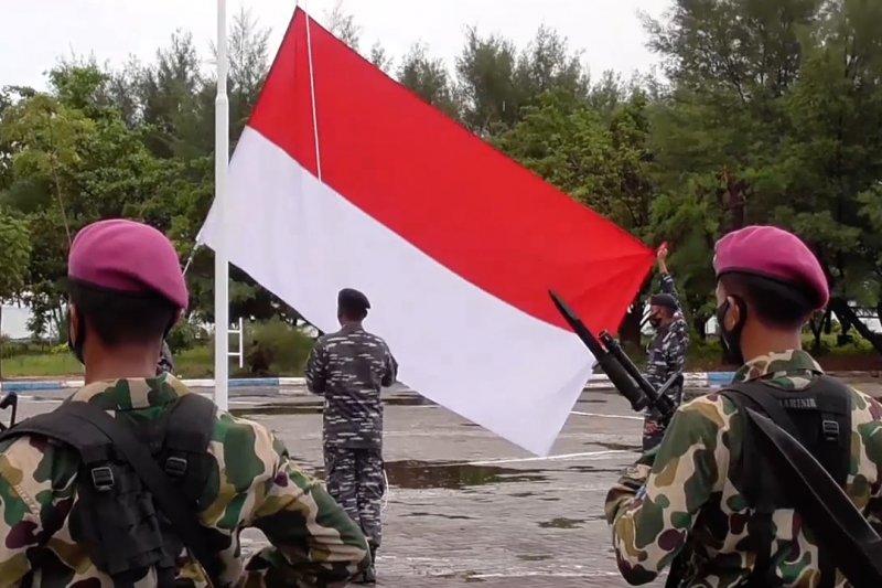 Guskamla peringati HUT Ke-75 RI di Pulau Nipa