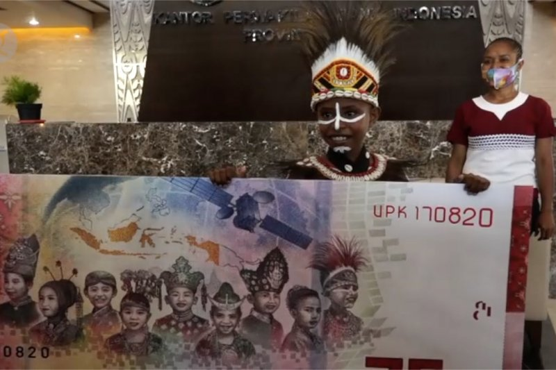 Perkenalkan Agustinus Rumere, bocah Papua di uang pecahan Rp75 ribu