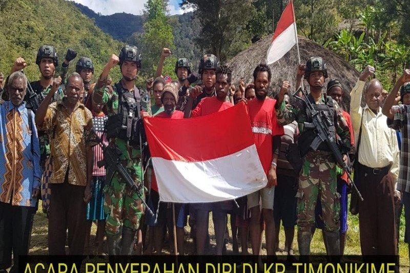 10 Anggota KKB pimpinan Puron Wenda kembali ke NKRI