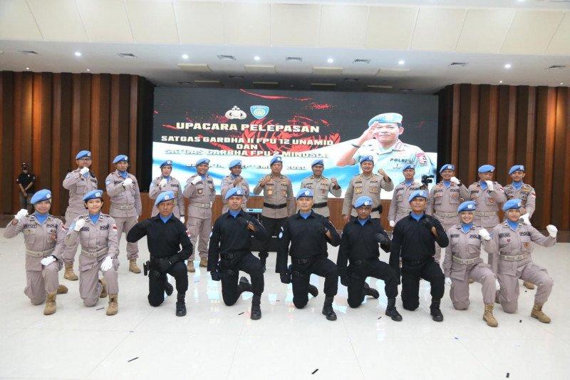 Kapolri lepas Satgas Garuda Bhayangkara ke Sudan dan Afrika Tengah