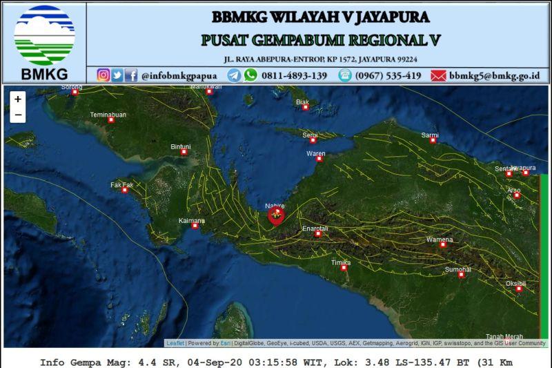 Gempa bumi magnitudo 5,7 landa Papua tak berpotensi menimbulkan tsunami