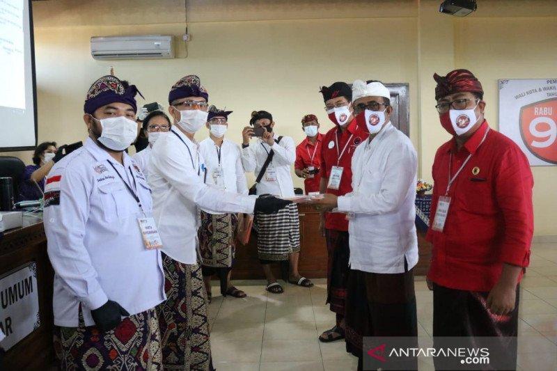 Paket Jaya-Wibawa pendaftar pertama Pilkada 2020 di Kota Denpasar