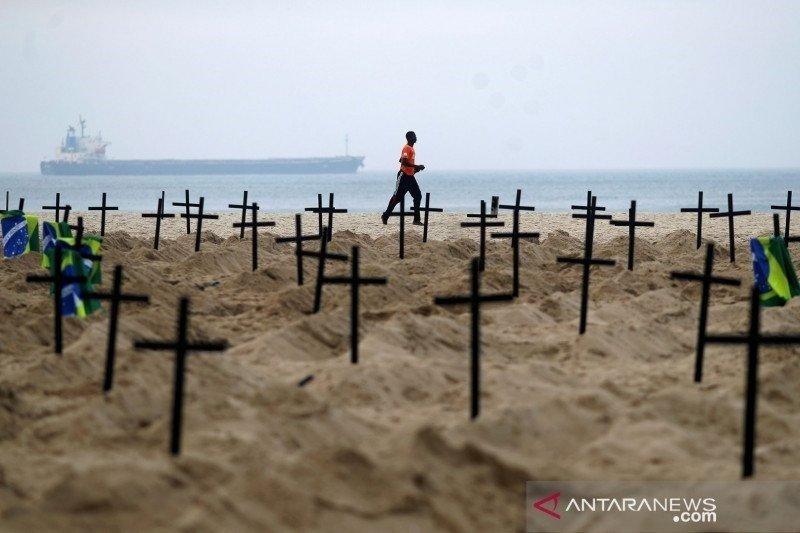 Brazil laporkan 200 ribu lebih kematian saat lonjakan kasus COVID-19
