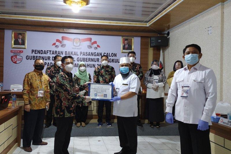 Pendaftaran Pilkada, Helmi-Muslihan pendaftar pertama Pilgub Bengkulu
