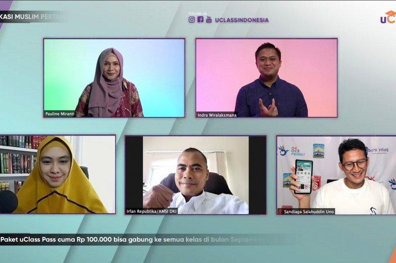Kelas-kelas daring yang diminati saat ini, kata Sandiaga Uno