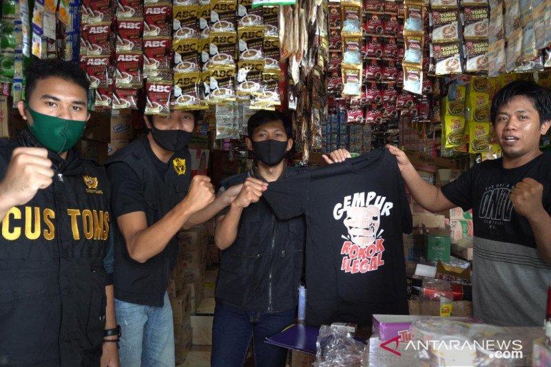 Bea Cukai Banten sidak pasar rokok ilegal, ini temuannya