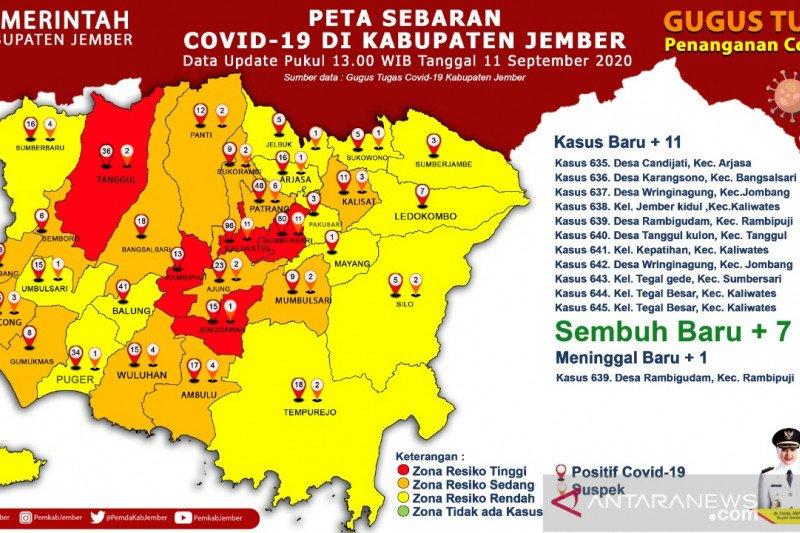Jumlah kasus kematian akibat COVID-19 di Jember meningkat