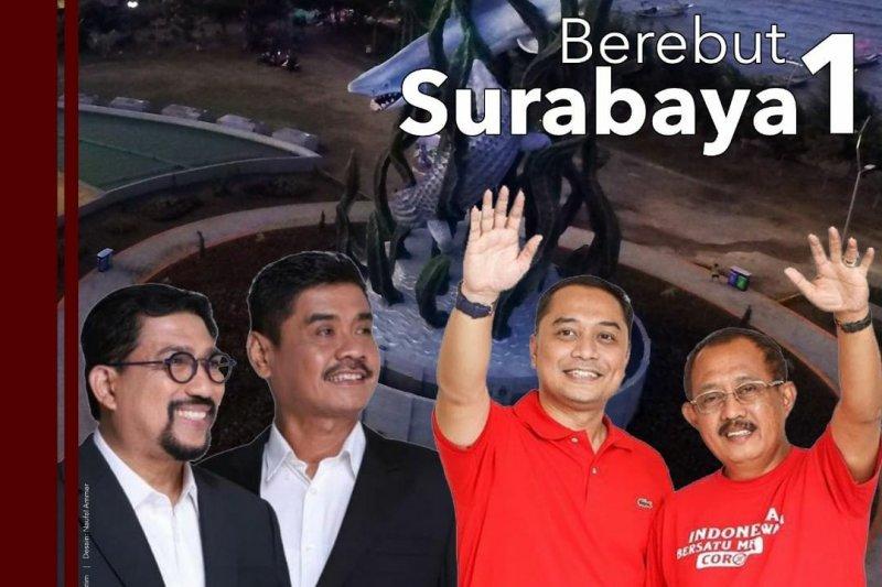 Koalisi gajah dan partai gajah berebut kursi wali kota Surabaya
