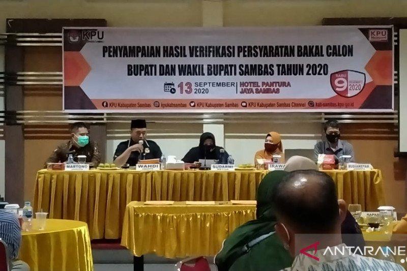 KPU Sambas minta tiga Bapaslon perbaiki berkas pendaftaran