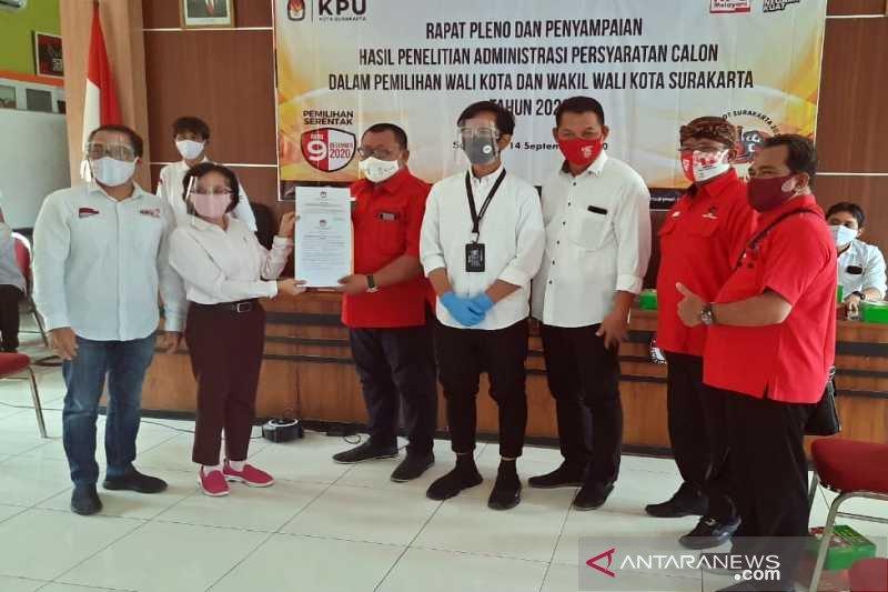 KPU Solo nyatakan administrasi persyaratan calon Gibran lengkap