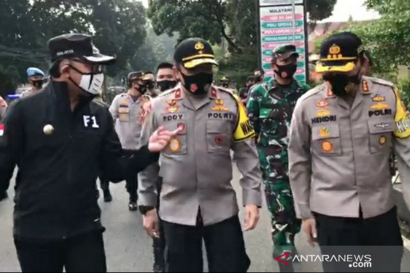Wakapolda Jabar tinjau PSBMK lanjutan hari pertama di Kota Bogor