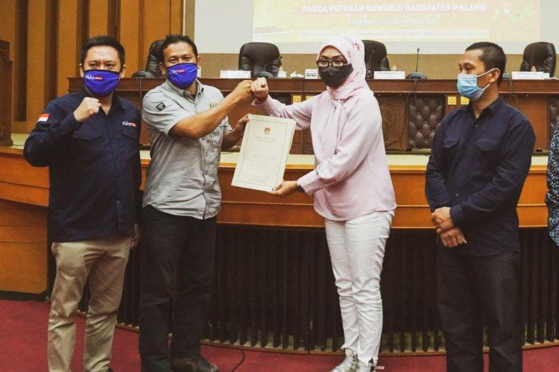Bapaslon perseorangan Heri-Gunadi lolos verifikasi Pilkada Malang